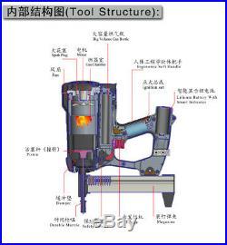 Meite MT-G38 12 Gauge Gas Powered Cordless Nailer Concrete Nailer Framing Nailer