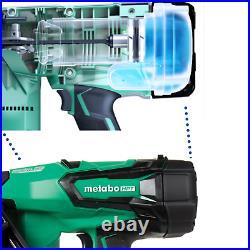 Metabo 18V 15Ga Cordless Angled Finish Nailer Gun 3AH Battery, Charger, Bag, Cap