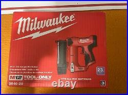 Milwaukee 2540-20 M12 12V 23 Gauge Compact Cordless Pin Nailer Bare Tool