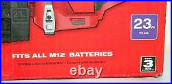 Milwaukee 2540-20 M12 12V 23 Gauge Compact Cordless Pin Nailer Bare Tool New