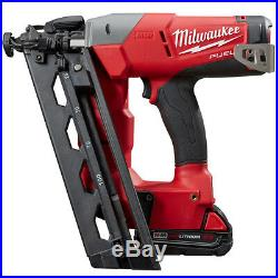 Milwaukee 2742-21CT 18-Volt 16-Gauge FUEL Angled FInish Nailer Combo Kit