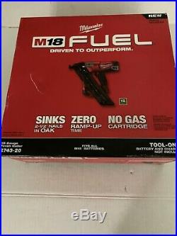Milwaukee 2743-20 M18 FUEL 15 Gauge Finish Nailer Tool Only! Sealed
