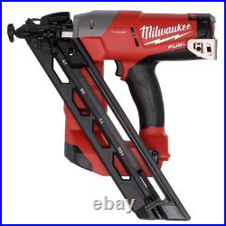 Milwaukee Angled Finish Nailer 18-Volt Lithium-Ion Cordless Brushed (Tool-Only)