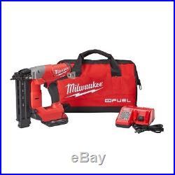 Milwaukee Brad Nailer Kit Air Nail Gun Cordless 18G M18 + Battery Charger! NEW
