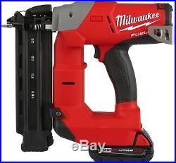 Milwaukee Brad Nailer Kit Air Nail Gun Cordless M18 Battery 18-Gauge New