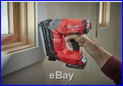 Milwaukee Brad Nailer Kit Air Nail Gun Cordless M18 Battery 18-Gauge TOOL ONLY