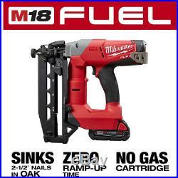 Milwaukee Finish Nailer Kit 18-Volt 16-Gauge Straight Li-Ion Brushless Cordless