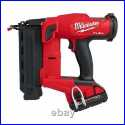 Milwaukee M18FN18GS-202X 18v 2nd Fix Nailer Fuel 18g Nailer 2 Batteries Charger