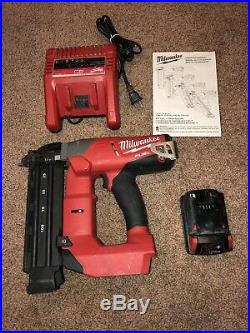 Milwaukee M18 2740-20 Fuel Brad Nailer Kit. Includes charger and 2.0 battery