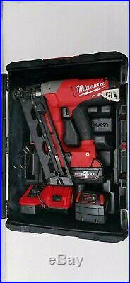 Milwaukee M18 CN16GA 18V Fuel 2 x 4.0Ah Li-ion 16G Angled Finish Nailer