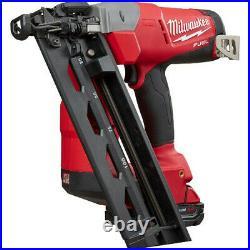 Milwaukee M18 FUEL 16G Brushless Angled Finish Nailer Kit 2742-21CT New