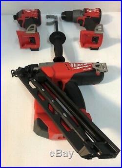 Milwaukee M18 FUEL 2743-20 15ga 18V Finish Nailer 2853-20 2804-20 Drill Kit set