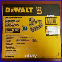NEW DEWALT DCN660B 20V MAX 16G 2-1/2 in 20 DEGREE ANGLED FINISH NAILER BARE TOOL