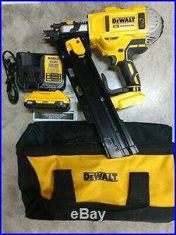 NEW DeWalt 20V Max XR Brushless 21 Degree Framing Nailer Kit Model# DCN21PL