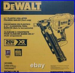 NEW DeWalt 20V Max XR Brushless 21 Degree Framing Nailer Model# DCN21PL