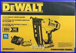 NEW Dewalt DCN660D1 16-Guage 20-Volt 2-1/2-Inch Cordless Angled Finish Nailer