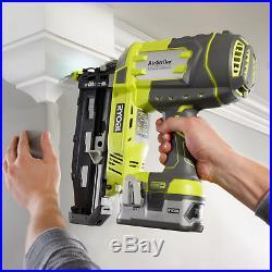 Nail Gun Nailer Pneumatic Cordless Rechargable Battery Framing Roofing air LED
