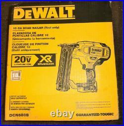 New DeWalt 20-Volt Max Xr Lithium-Ion Cordless 18-Gauge Brad Nailer (Tool-Only)