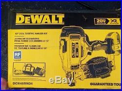 New Dewalt DCN45RND1 20V MAX Lithium-Ion 15-Degree Cordless Roofing Nailer Kit