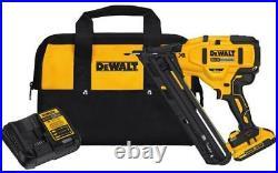 New Dewalt Dcn650d1 20v Max Cordless 15ga 35 Deg Angled Finish Nailer Kit Sale