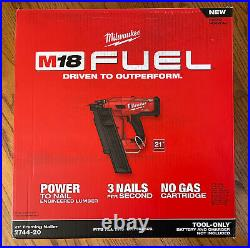 New Milwaukee 2744-20 M18 Fuel 21 Degree Round Head Framing Nailer Nail Gun