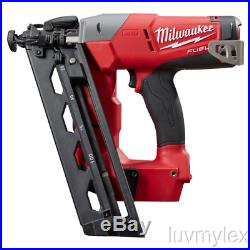 New Milwaukee M18 Fuel 16 Guage Angled Finish Nailer 2742-20 Tool Only