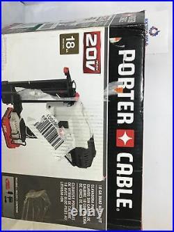 PORTER-CABLE 20V MAX Cordless Brad Air Finish Nailer Kit Gun 18GA PCC790LA (N)