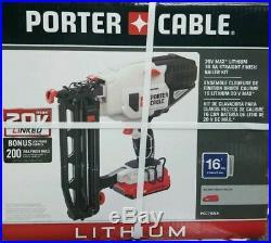 PORTER CABLE PCC792LA 20V MAX Cordless Lithium 16GA Straight Finish Nailer Kit