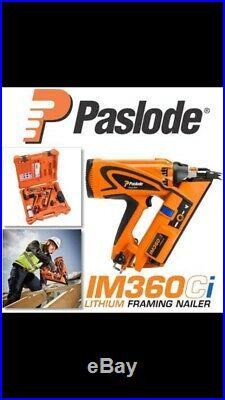 Paslode IM360CI Framing Nailer, Lithium-Ion Battery, Case & Charger. FREE P+P