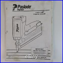 Paslode Impulse Cordless Framing Nailer Impulse Nail Gun 900420