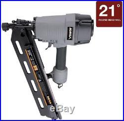 Pneumatic 21-Degree Full Head Strip Framing Nailer Air Compressor Tool Nail Gun