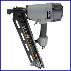 Pneumatic Framing Nailer Air Powered Nail Gun 21 Degree 3-1/2 Full Round Head