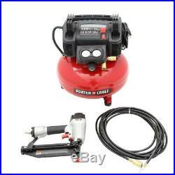 Porter-Cable PCFP12234 6 Gallon Compressor 3-Piece Nailer and Brad Combo Kit NEW