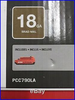 Porter Cable Pcc790la 20v Cordless 18ga Brad Nailer