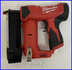 Pre Owned 2540-20 Milwaukee M12 23 Gauge 12V Cordless Pin Nailer (Tool Only)