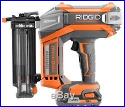 RIDGID 18-Volt 18-Gauge 2-1/8 in. Brushless Brad Nailer Battery Powered Nail Gun