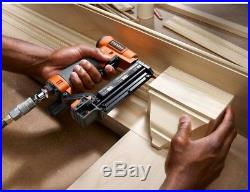 RIDGID Brad Nailer Headless Pinner Trim Work Carpentry Job Nail Gun Air Tool New
