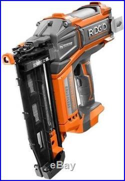 RIDGID Straight Finish Nailer Nail Gun 18-Volt Brushless Motor 16-Gauge 2-1/2