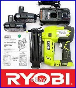 RYOBI 18v VOLT AIR STRIKE 5/8-2 BRAD NAILER P320 + 2 BATTERIES + CHARGER