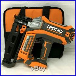 Ridgid 16 guage Straight Nailer Nail Gun Brushless Cordless 18V R09892 RR623