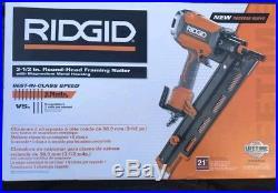 Ridgid Nail Gun 21 Degree 3-1/2 in. Round-Head Framing Nailer Durable Contractor