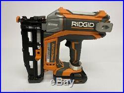 Ridgid R09892 Nail Gun 18V Straight Nailer Brushless with3ah OCTANE BATTERY