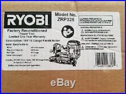 Ryobi 18V Li-Ion 16-Gauge Finish Nailer P325 (Bare Tool) Reconditioned FAST SHIP