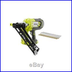 Ryobi Angled Nailer Tool Only w Sample Nails AirStrike ONE+ Li-Ion Cordless 18V