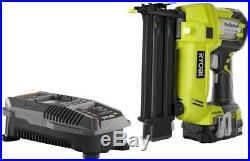 Ryobi Brad Nailer Kit Airstrike Nail Gun Air Tool Cordless Electric Compact 18v