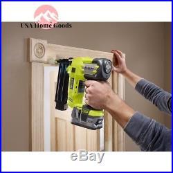 Ryobi Cordless Brad Nailer Air Nail Gun 18-Volt 18-Gauge Jam Proof (Tool-Only)