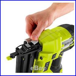 Ryobi Cordless Electric Brad Nailer, Staple Nail Finish Gun, Air Power Tool 18v