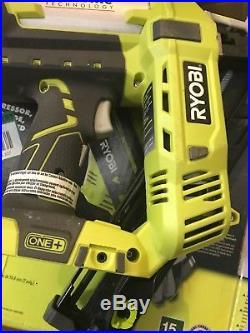 Ryobi Nail Gun Angled Nailer 18 Volt 15 Gauge AirStrike Cordless Drive Switch