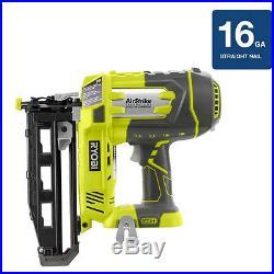 Ryobi One Plus 18-Volt 16-Gauge Cordless Nail Gun Nailer Tool Only P325 NEW