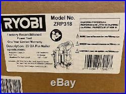 Ryobi P318 18-Volt ONE+ AirStrike 23-Gauge Cordless Nailer (Factory Recon.)